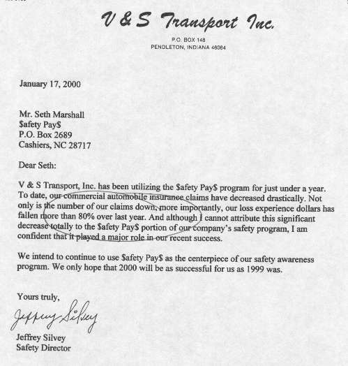 Client Letters & Emails - Safety PaysSafety Pays
